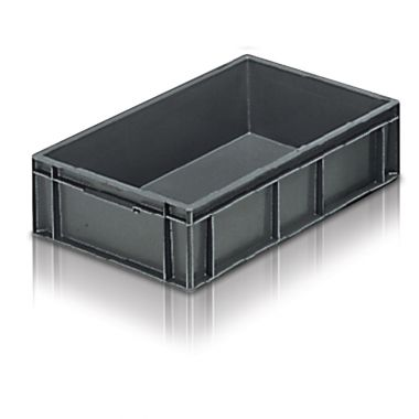Euro Stacking Plastic Containers 400x300x118mm - 21010
