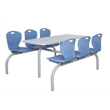 Premium Canteen Table - Six Chairs