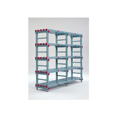 Hygienic Plastic Shelving - Six Shelves