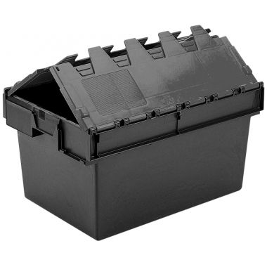 Eco Attached Lid Container - (600 x 400 x 320mm)