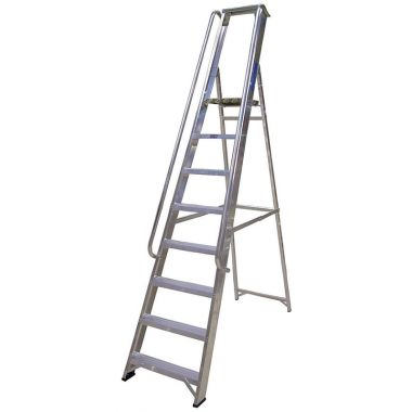 Aluminium Ladder With Hand Rail