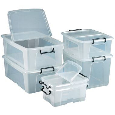 Clear Storage Containers - 40 Litre (10 Pack)