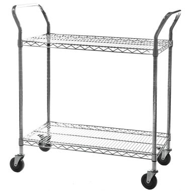Chrome Wire Trolley - Three Tier
