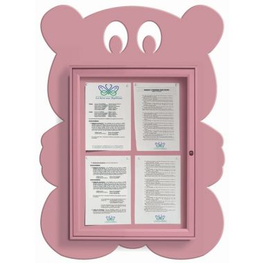 Wall Mounted Fun Notice Board - Teddy Bear