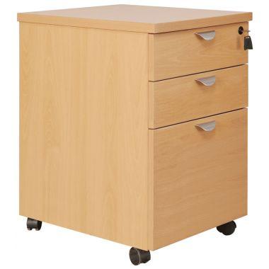 Mobile Office Pedestal - Three Drawer (Desk High)
