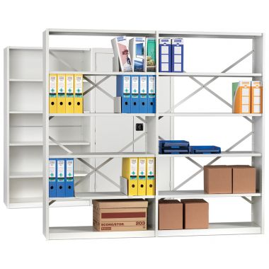 Office Shelving - Six Shelves Fully Clad