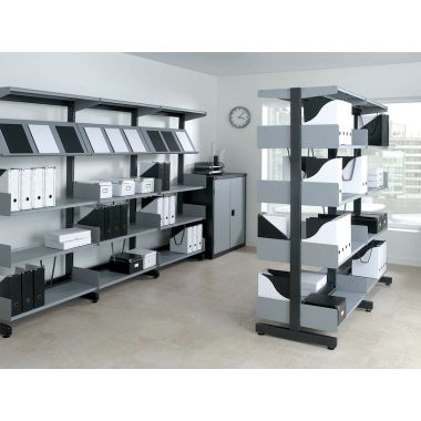 Cantilever Office Shelving - Double Sided
