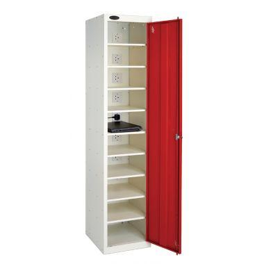 Single Door Laptop Storage Locker - Ten Shelf