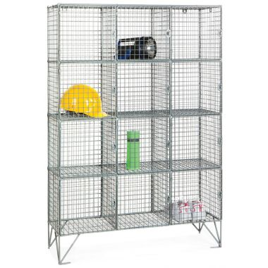 Wire Mesh Lockers - Twelve Door