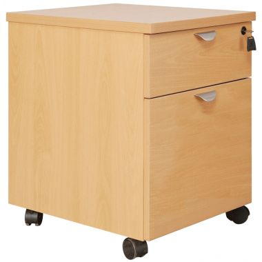 Mobile Office Pedestal - Two Drawer
