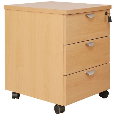 Mobile Office Pedestal - Three Drawer