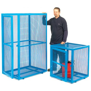 Single Door Mesh Security Cage - Large
