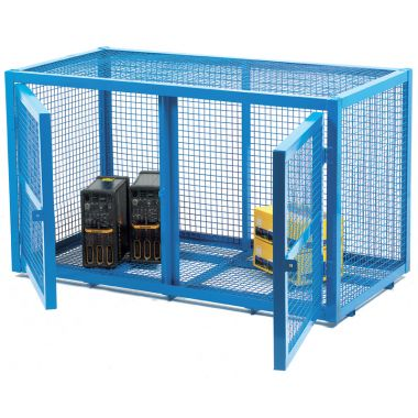 Double Door Mesh Security Cage - Small