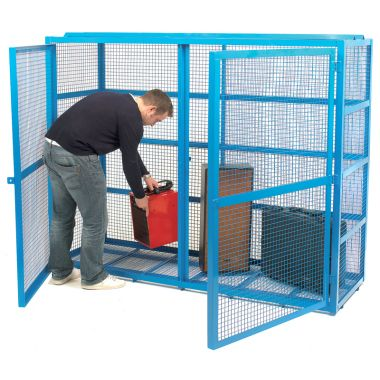 Double Door Mesh Security Cage - Large
