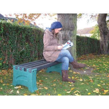 Outdoor Plastic Bench - Two Person