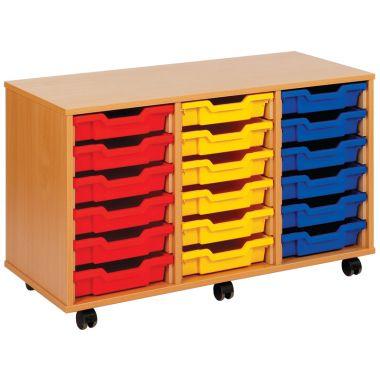 Tray Storage Unit - Eighteen Shallow Trays