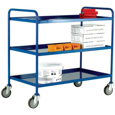 Tray Trolley - Three Small Steel Trays - TT73