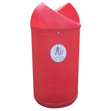 Twisted Top Litter Bin – Tidy Logo