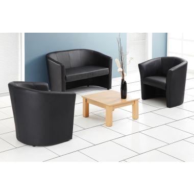 Single Tub Seat - Leather Effect