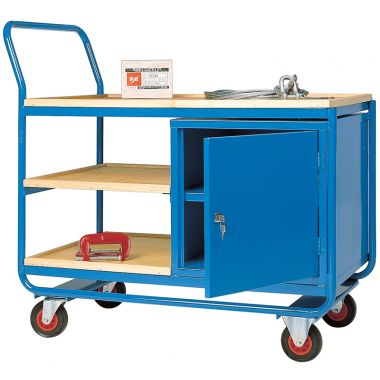 Workshop Trolley - Three Tier (Added Cupboard)