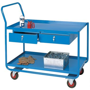 Workshop Trolley - Two Shelves & Two Drawers - TT165