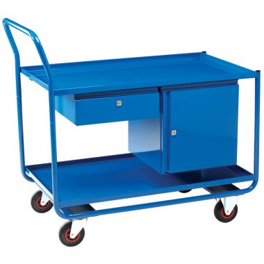 Workshop Trolley - Two Shelves, Drawer & Cupboard - TT166