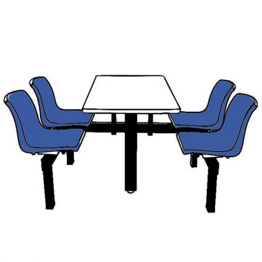 Canteen Table - Four Chairs (Single Access)
