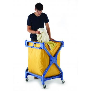 Foldable Plastic Laundry Trolley