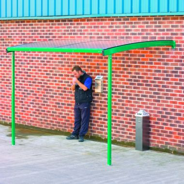 Wall Mounted Smoking Shelter - Large