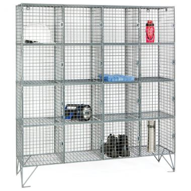 Wire Mesh Lockers - Sixteen Door