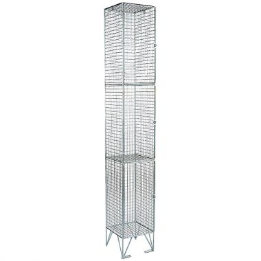 Wire Mesh Lockers - Three Door