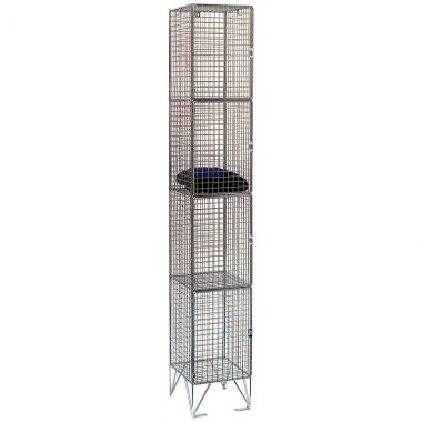 Wire Mesh Lockers - Four Door