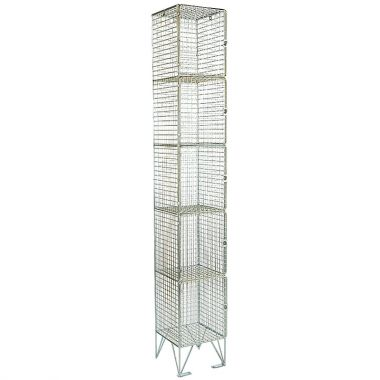 Wire Mesh Lockers - Five Door