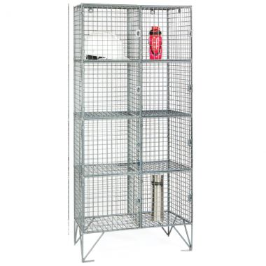 Wire Mesh Lockers - Eight Door