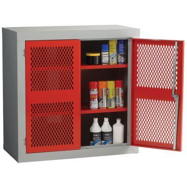 Double Door Industrial Mesh Cupboard - Standard