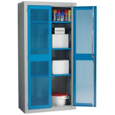 Double Door Industrial Mesh Cupboard - Large