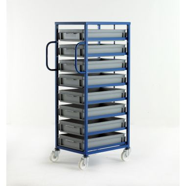 Mobile Tray Rack – 8 Shallow Trays
