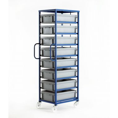 Mobile Tray Rack – 8 Medium Trays