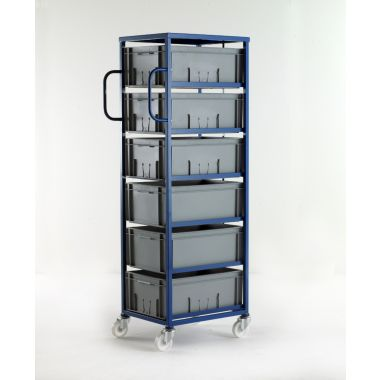 Mobile Tray Rack – 6 Deep Trays
