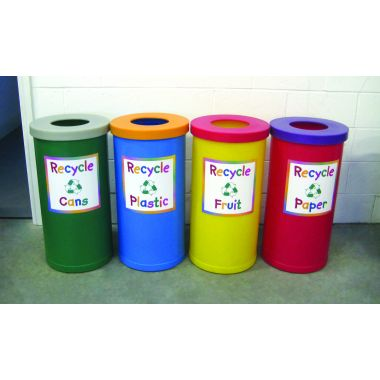 Recycling Bin - Junior Style (Open Top, set of four)