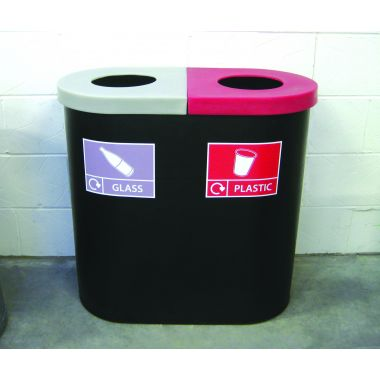 Twin Recycling Bin (Open Top)