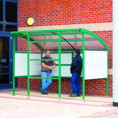 Premier Smoking Shelter - Perforated