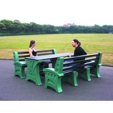 Plastic Table & Seat Set - Eight Seater