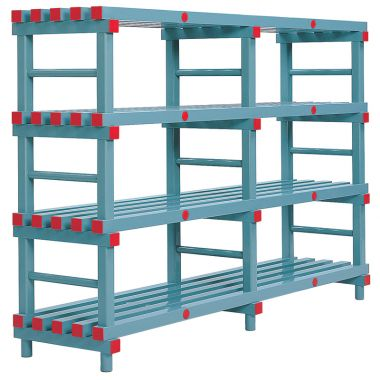 Hygienic Plastic Shelving - Four Shelves