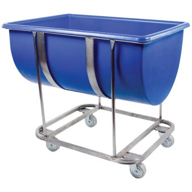 Plastic Trough with Stainless Steel Frame – 180 Litre - RM180FSS