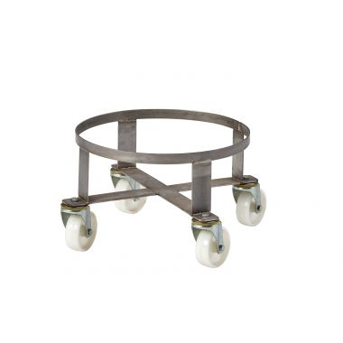 Stainless Steel Dolly for Plastic Tapered Tubs