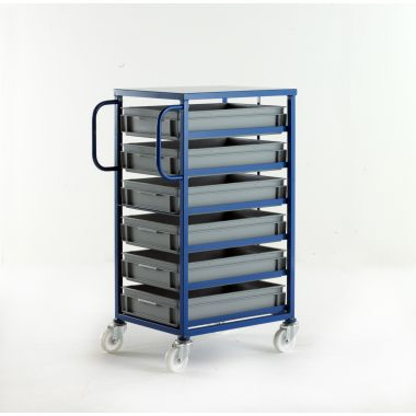 Mobile Tray Racks – 6 Shallow Trays