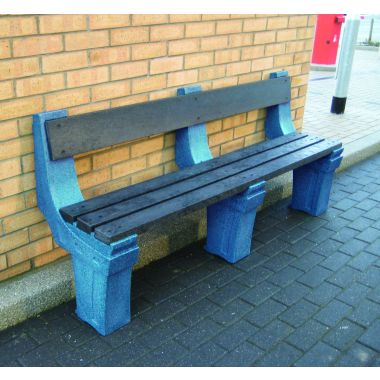 Outdoor Plastic Seat - Wall Mounted