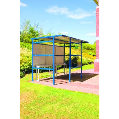 Traditional Smoking Perforated Shelter - 9 Person, extra wide