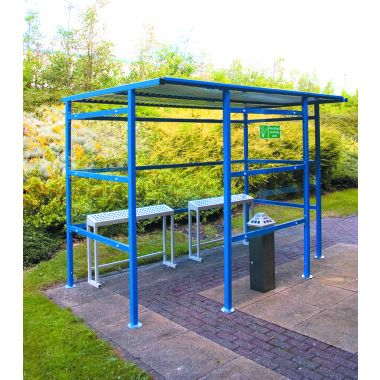 Traditional Smoking Perspex Shelter - 9 Person, extra wide